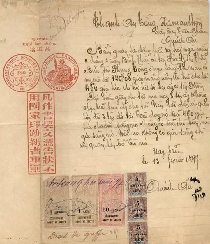 Sài Gòn Đơn Kiện Quốc Ngữ 1897